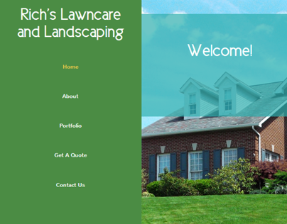 Rich's Lawncare and Landscaping Website Design