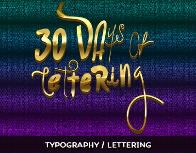 30 days of Lettering