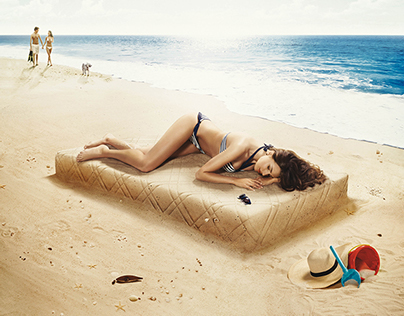 Lonas Mattresses Poster Summer Campaign 2014