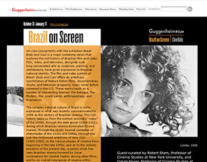 Brazil on Screen schedule / Guggenheim