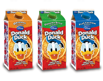 Disney Donald Duck Brand Orange Juice Packaging Design