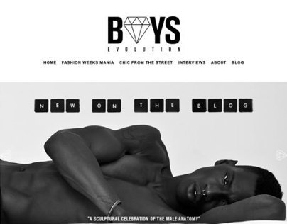 Boys Evolution - Website Design