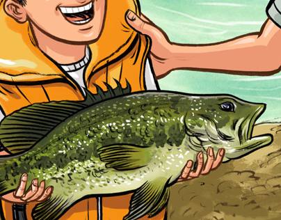 Illustration for Kayak Fish Magazine