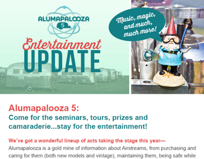 Alumapalooza Event Email - Entertainment