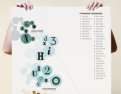 Typography Geocaching | Infographic