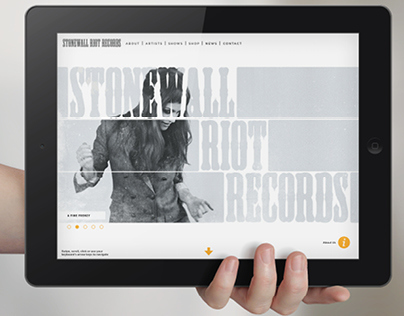Stonewall Riot Records Website + Content Map