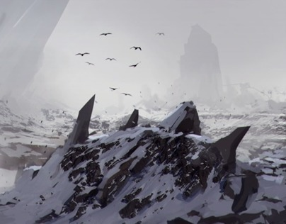 Painting a Realistic Environment Concept in Photoshop