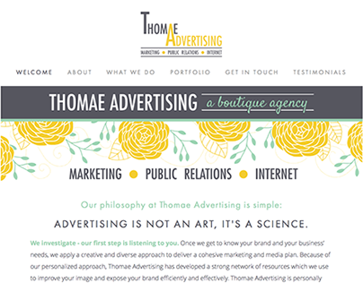 Thomae Advertising Website