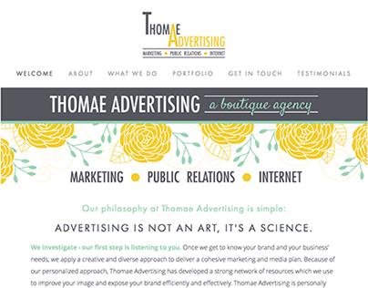 Thomae Advertising Website