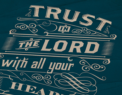 Trust in the Lord | Typography