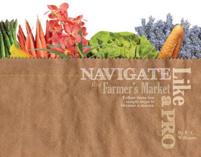 Farmers' Market Magazine Spread