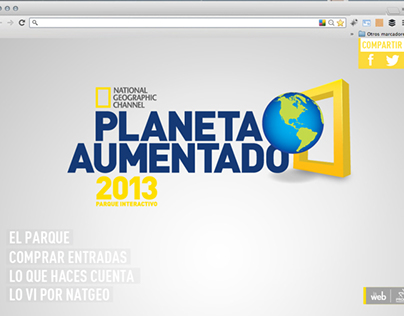 [NATGEO] Parque Planeta Aumentado Website / Trivias