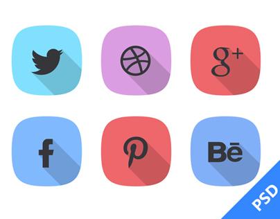 Free Social Icon PSD