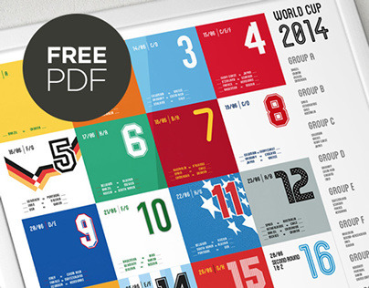 Free 2014 World Cup Wall Chart