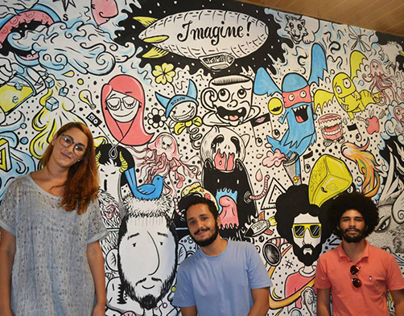 Wall for Red Bull doodle art exhibition