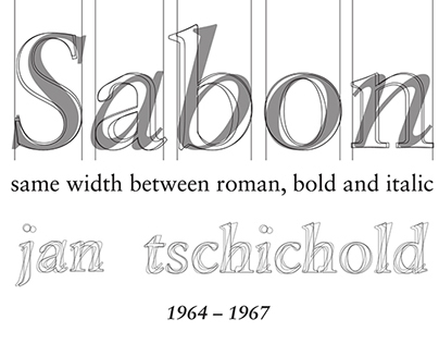 sabon - anatomy of a typeface