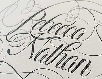 Rebecca and Nathan Wedding Invitation