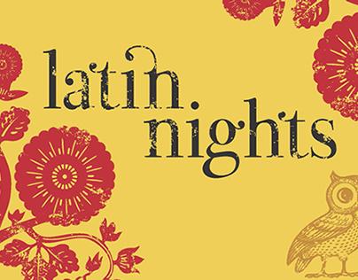 Latin Nights Night Owls promotional postcard