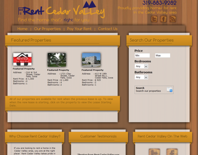 Rent Cedar Valley | Joomla Developed Site