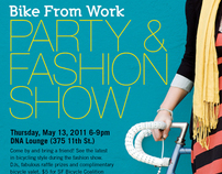 Bike From Work Party & Fashion Show Flyer
