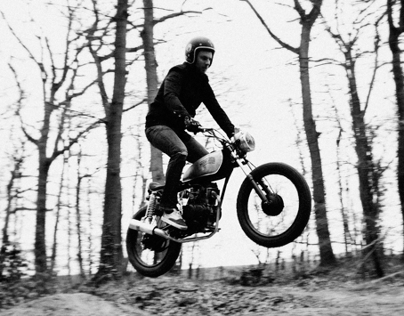 56 MOTORCYCLES IN THE DIRT