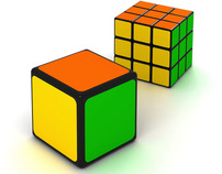 The facilitated version of Rubiks Cube.