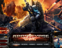 Apocalypse 2056 game website design