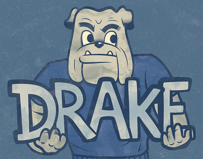 Bulldog Illustrations for Drake University