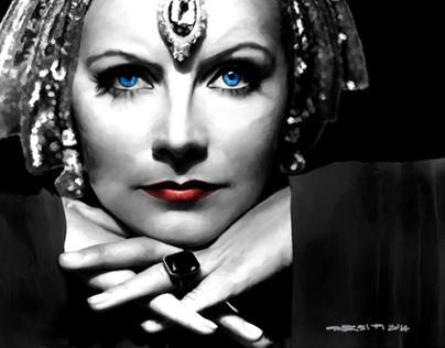 Greta Garbo Portrait