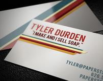 Retro Stripe Business card