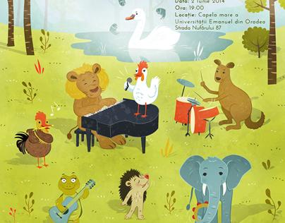 Poster Design for Carnavalul Animalelor