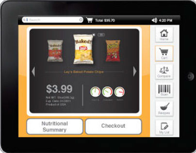 Shopping Cart Interactive Program UX/UI Design