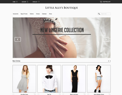 Homepage Fashion E-Commerce