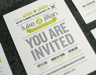 Luke & Jillian - Wedding Items