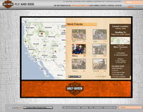 Harley Davidson Fly and Ride Website