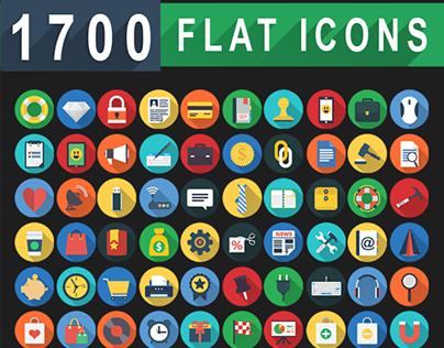 1,700 Flat Icons - Flat Web Icons Set | FlatIcon