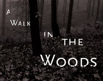 Bill Brysons A Walk in the Woods, Book Re-design