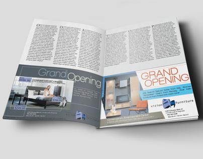 Magazine and Newspaper ads