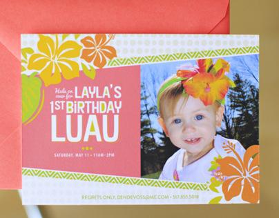 Luau Birthday Party Invite