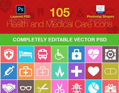 105 Medical and health care icons Download