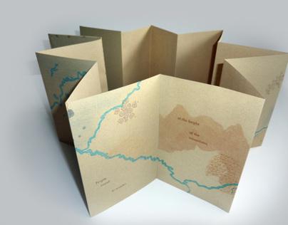 Wondering/ Wandering letterpress artists book