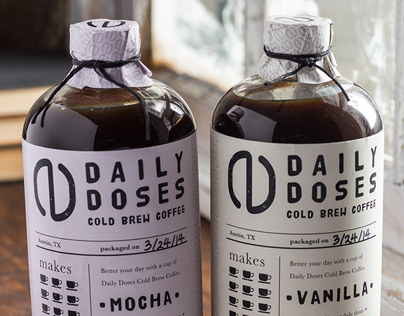 Daily Doses Cold Brew Coffee Label