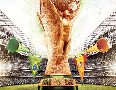 World Cup 2014 Editable flyer template