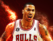 Derrick Rose Poster Illustration
