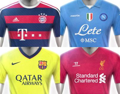 European Football Kit Designs