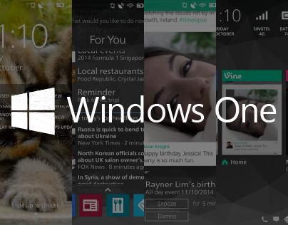 Windows One / Windows Phone 9 Concept