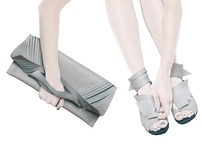 cut&fold clutches and sandals