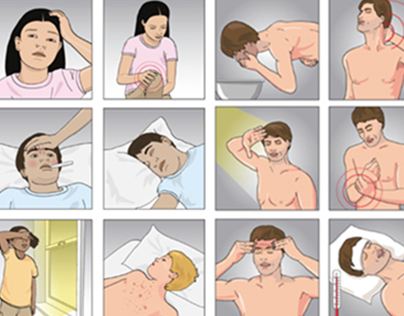 Medical Illustrations & Symptoms Drawings