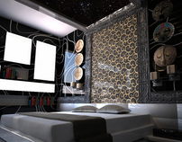 Aztec Bedroom - Private Apartment project (3D)