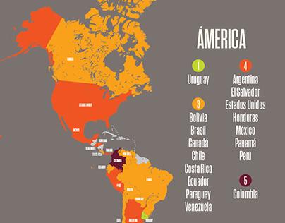 Infografía: Mejores/peores países para trabajadores